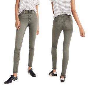 """Madewell 9"""" Mid-Rise Skinny Button-Front Jeans"""